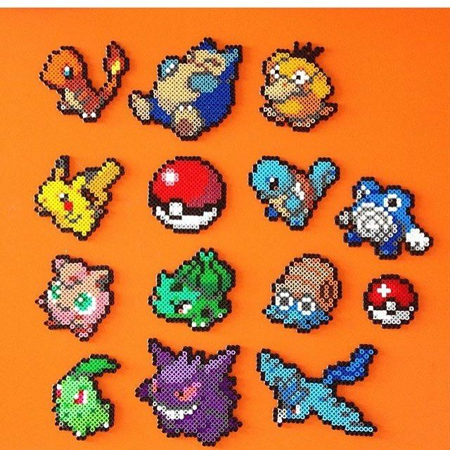 Pokemon perler beads by tempo_da_perlers                                                                                                                                                                                 More
