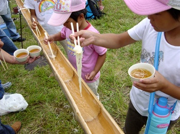 On my Bucket List - to try out this awesome looking experience ....Nagashi Somen (floating noodles)