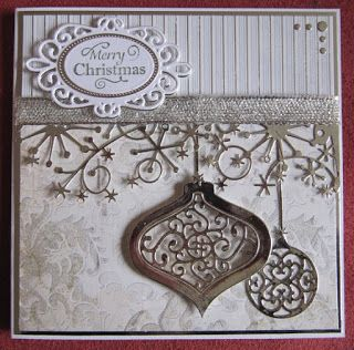 Memory Box, Sue Wilson, Spellbinders Christmas card.
