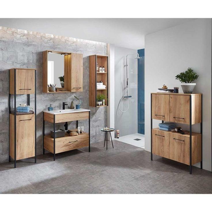 Tolle Badezimmer Einrichtung im Industry Style - in Holz ...