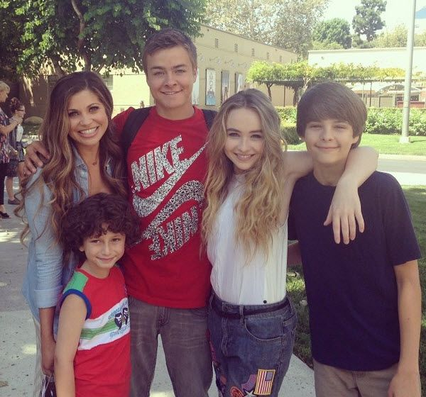 August Maturo, Danielle Fishel, Corey Fogelmanis, Peyton Meyer & Sabrina Carpenter