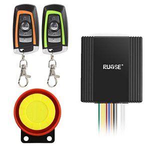 Rupse Kit de Système d'Alarme de Sécurité Antivol Étanche Klaxon Sirène 125dB Bicolore Télécommande pour Moto Vélo: Description : La…