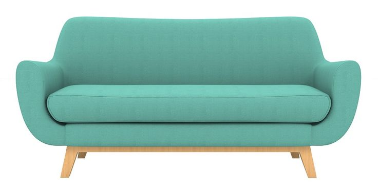Brosa Filip 2 Seater Danish Style Couch - Petal Turquoise  | $949.00