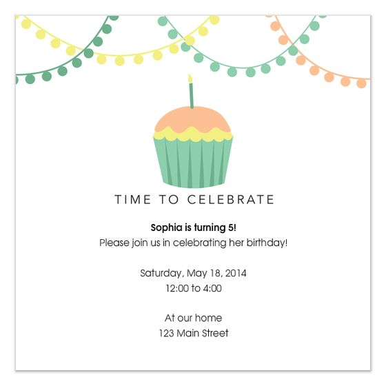 10 best birthday invitations inspirations images on Pinterest - best of birthday invitation card write up