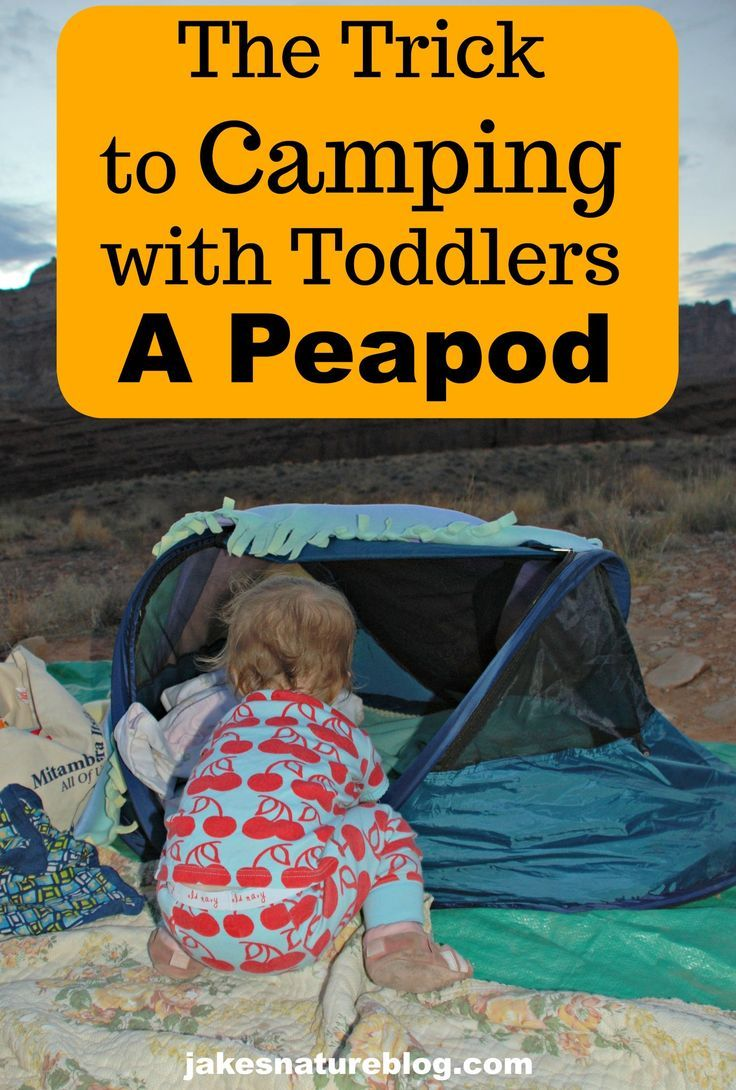 Peapod Our Top Trick To Camping With Toddlers Camping With