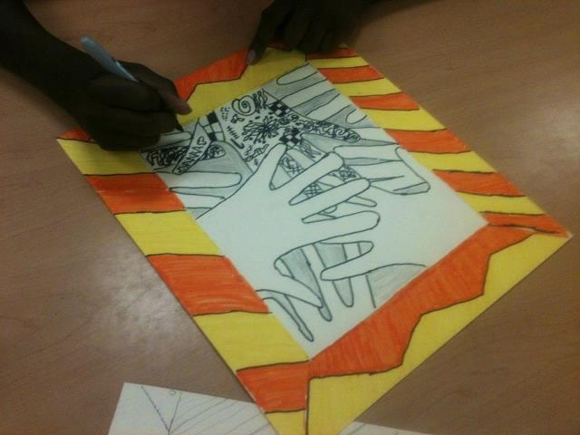 Mehndi Hands Powerpoint : Best th grade art projects images on pinterest