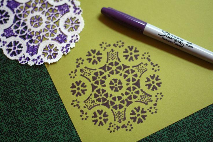 paper doily stencils, What a smart idea!