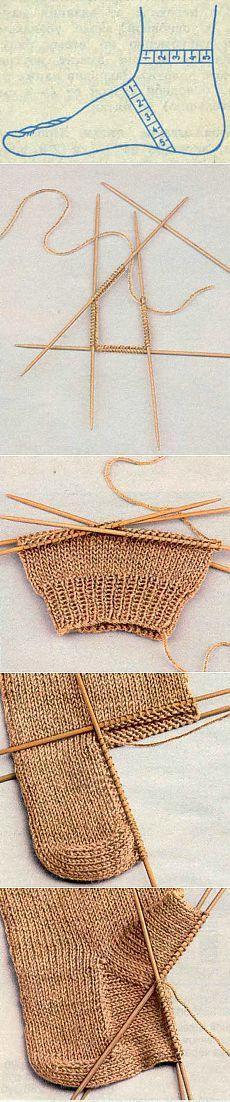 Азбука вязания (как связать носок) | Варварушка-Рукодельница