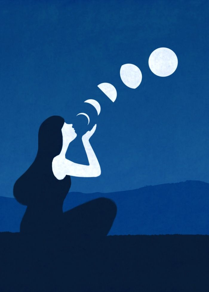 Moon phases Art Print by Joey Guidone                                                                                                                                                      More