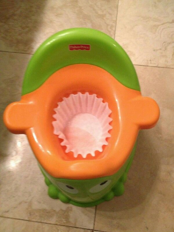 Put a coffee filter in the bottom of your child's potty and you have an easy clean up for a #2. So smart!!