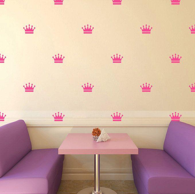 Desen Taç Duvar Çıkartmaları Desen Taç Çıkartmalar DIY Prenses Kızlar Yatak Odası Duvar Çıkartması Sanat Yurt Duvar Kağıdı Sticker Y-76(China (Mainland))