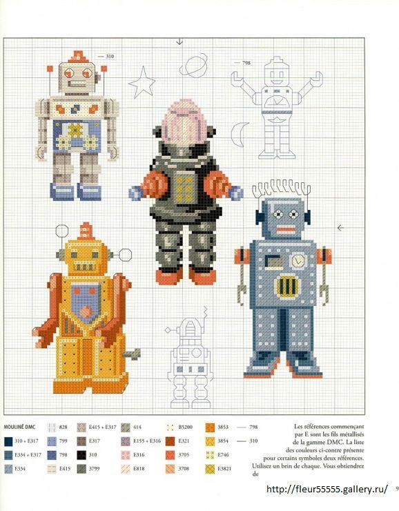 Cross Stitch Robots Gallery.ru / Фото #86 - 26 - Fleur55555