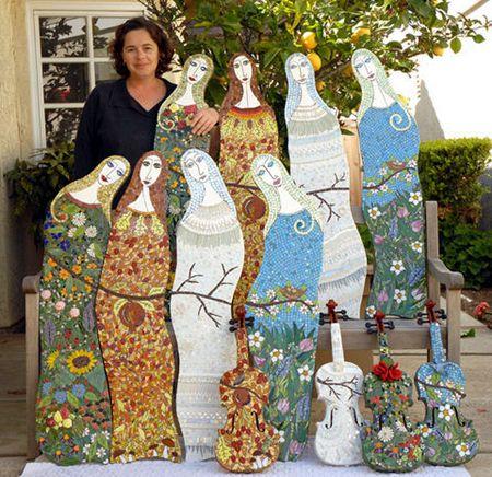 que  belleza de mosaicos....me gustaria tener cinco mujeres..