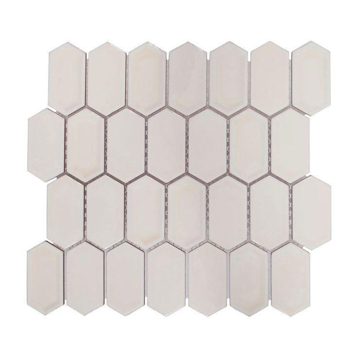 jeffrey court honey hive in x 8 mm ceramic mosaic tile
