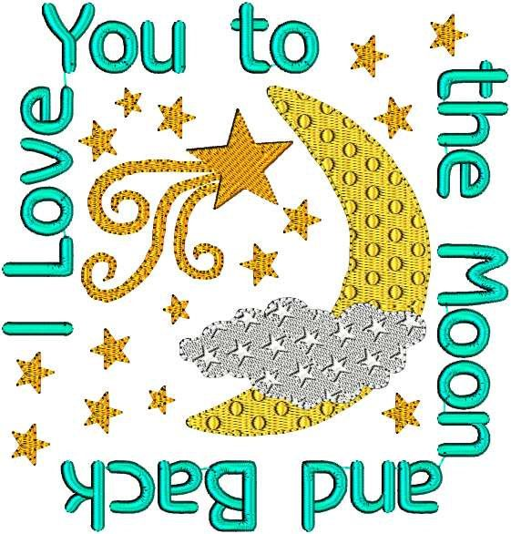 Instant download moon stars shooting star love you to the