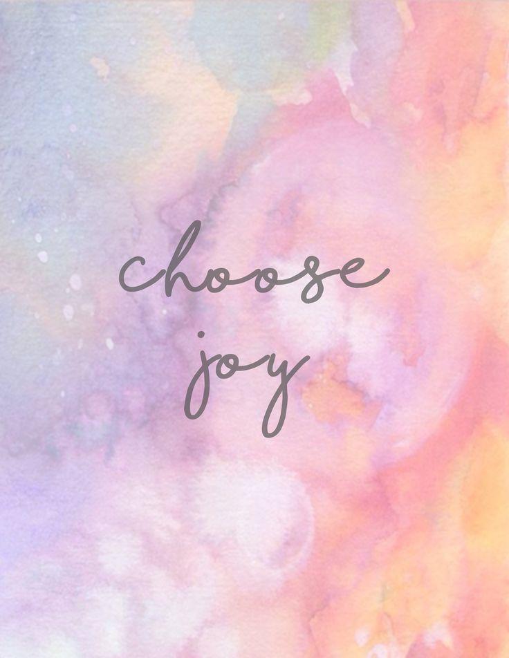 Choose Joy + Free Printable