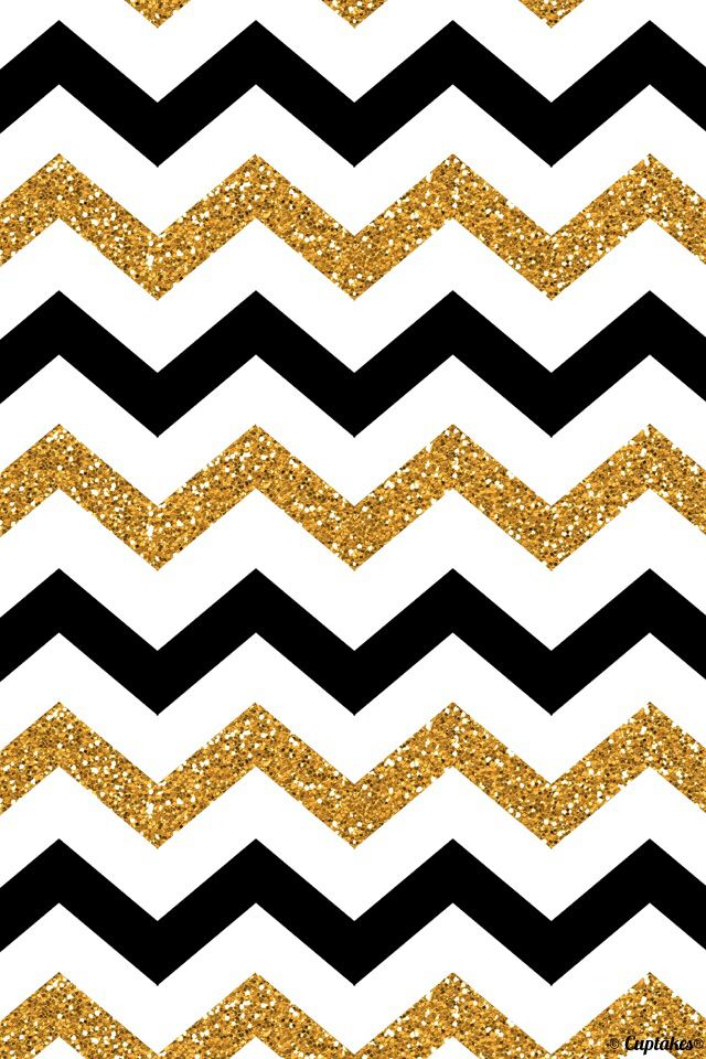 Gold and black stripes iphone wallpaper