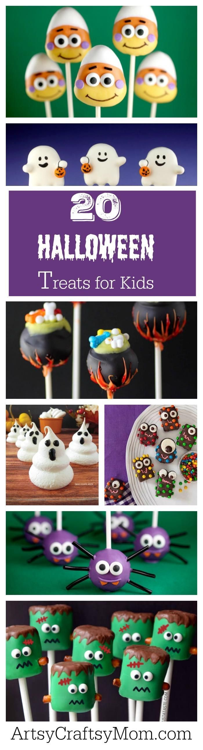 Treats for Halloween needn't be gross or scary all the time, they can also be cute!! Here are 20 adorable Halloween treats that are perfect for kids!
