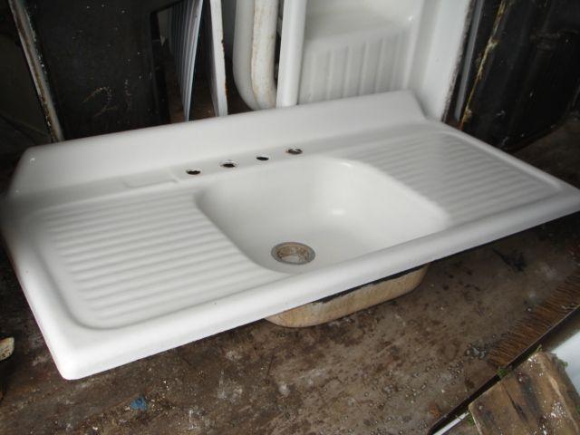 1949 Kohler Vintage Kitchen Single Bowl Drop In Sink With