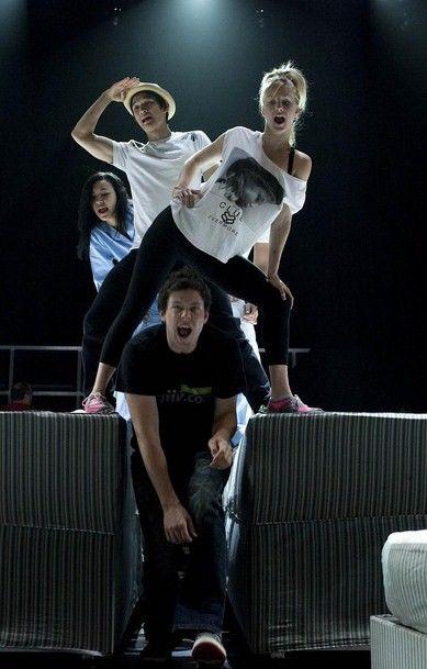behind the scenes: naya, harry, heather & cory.