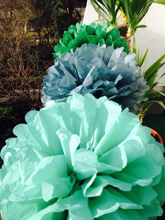Set of 3 nursery Tissue Pom Poms Party Decoration by pompomShouse
