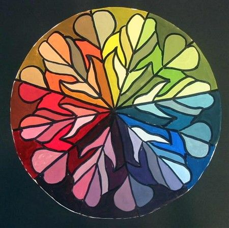 Use repeated mandala design as alternative idea for color wheel project