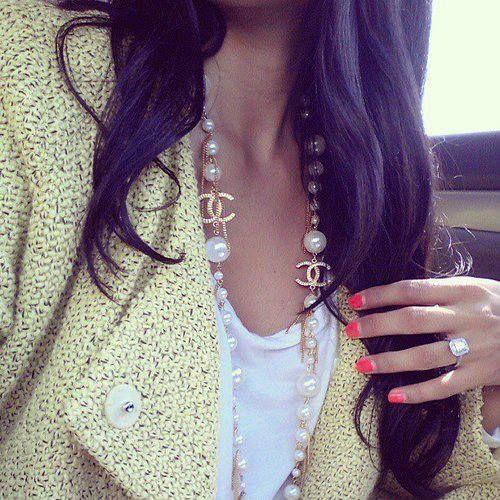 In my dreams, Chanel necklace ....