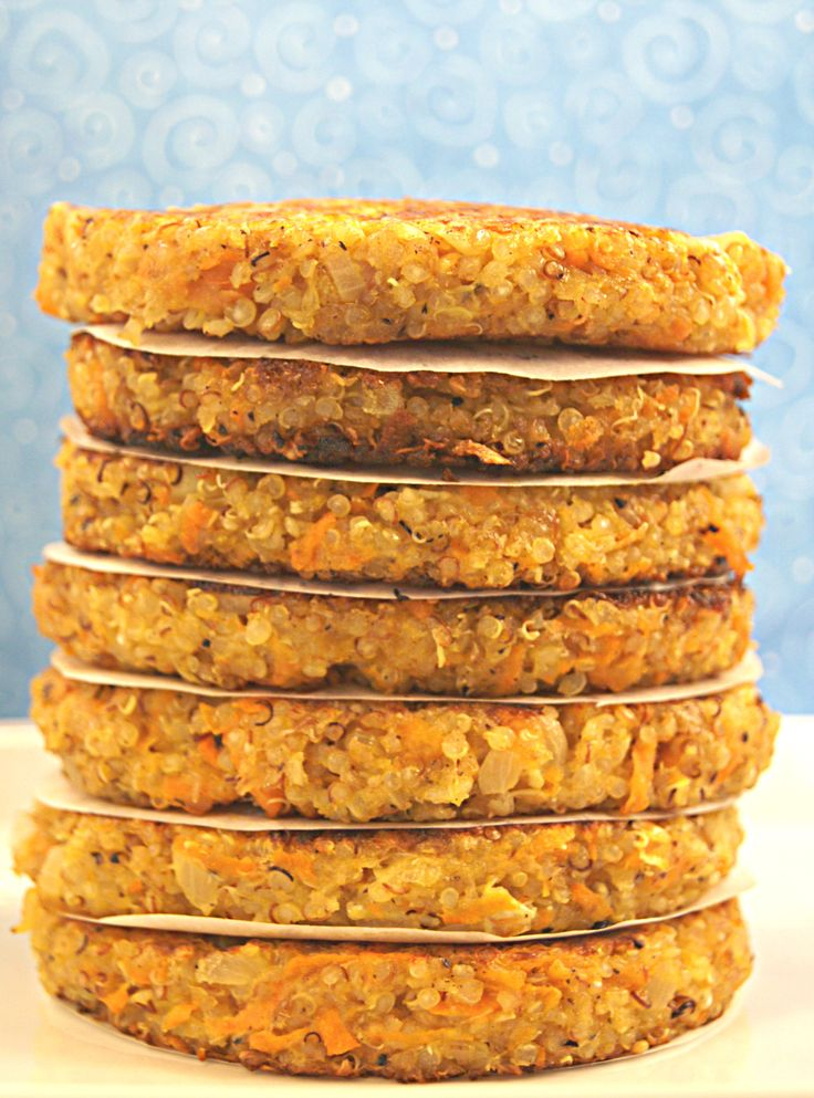 Gluten Free Quinoa Burgers - So delicious, low calorie and freezes so well. Click here for more healthy, delicious recipes from The Cave Woman. http://www.goingcavewoman.com/gluten-free-quinoa-burgers #GlutenFree #QuinoaBurgers