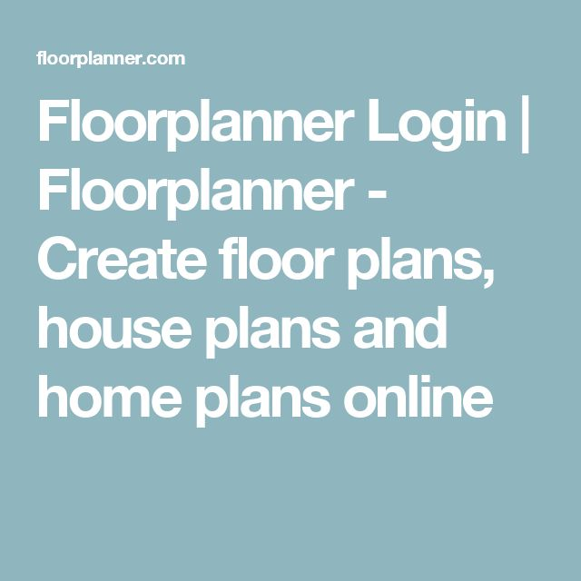 Floorplanner Login | Floorplanner - Create floor plans, house plans and home plans online
