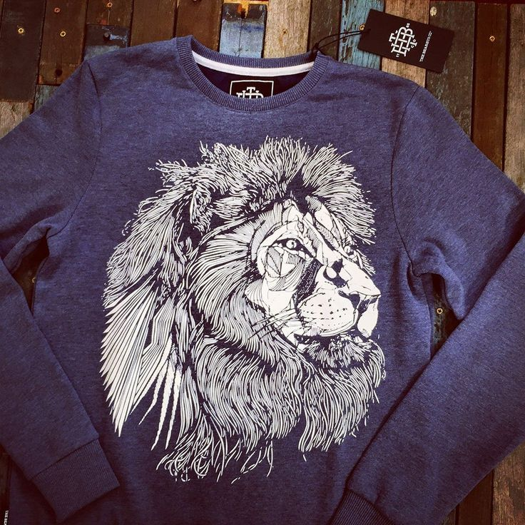 THE BEARHUG CO - LIONFACE - BLUE - SWEATSHIRT #thebearhugco