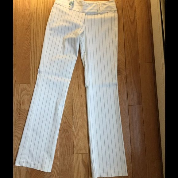 Pants - Nicole Miller White Pinstripe Pants