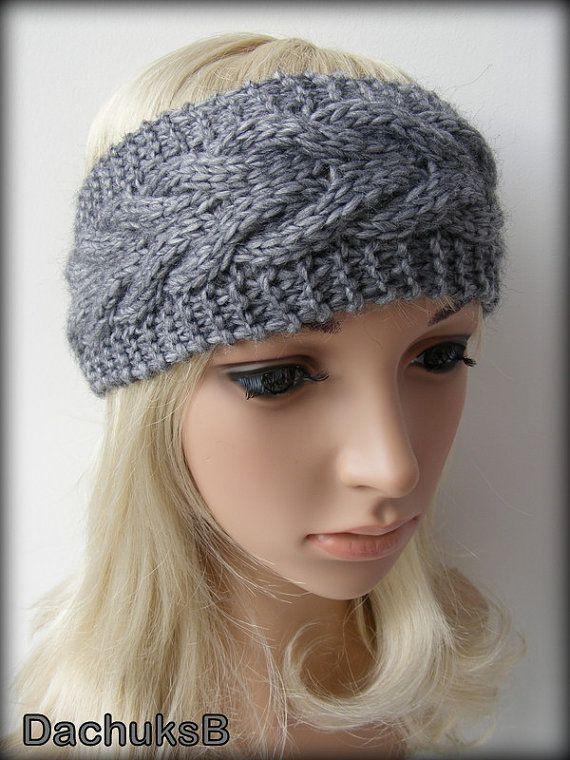 Winter Headband Knitting Pattern : 17 Best images about winter headbands on Pinterest Cable, Knitted headband ...