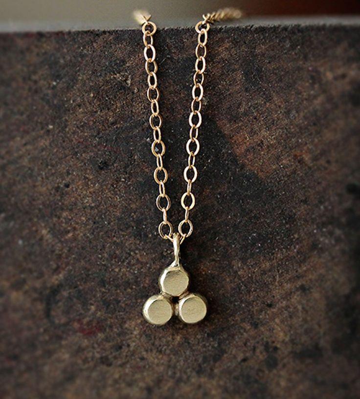 14K Gold Trinity Necklace