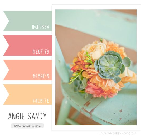Angie Sandy has a good site for typography and color swatches <3 We can get some good ideas from here!  Flower