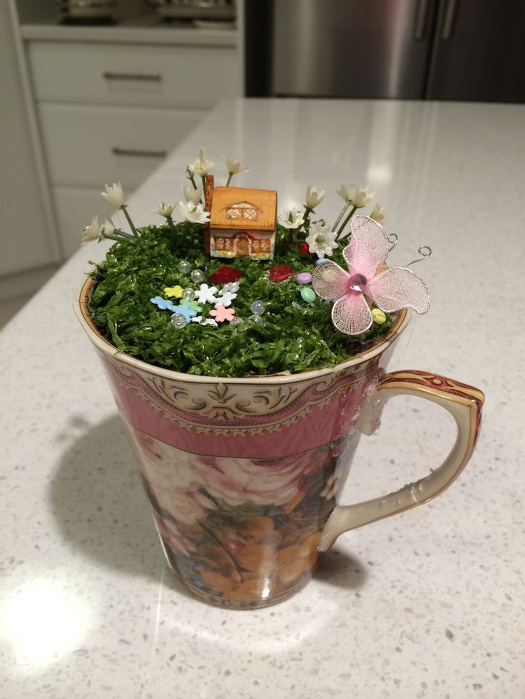 Big Coffee Cup Planter