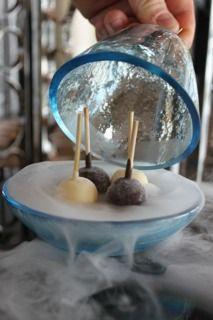 Custom made dessert bowl  by Glass Studio for Kempinski Grand & Ixir Hotel Bahrain