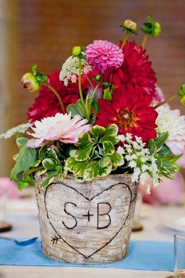 17 mejores ideas sobre centro de mesa con maceta de flores en pinterest centros de mesa de - Centro de mesas flores ...