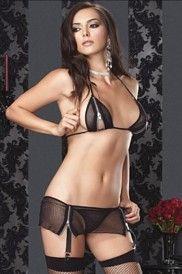 Zipper Peek-a-boo Fishnet Bikini Garter Set   *whispers* what can i say i luv lingerie :) lol