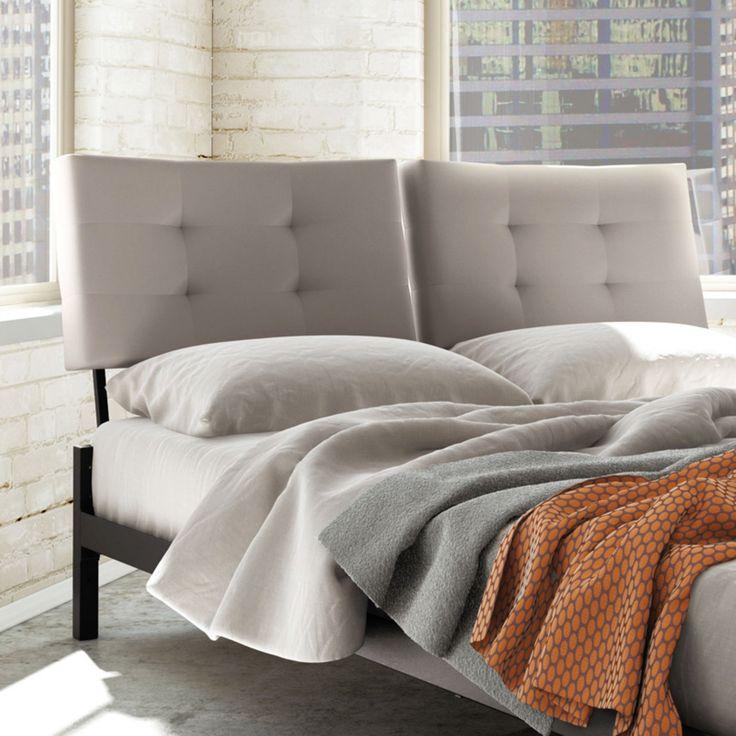Best Amisco Delaney Upholstered Headboard Light Gray Size 400 x 300