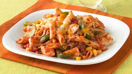 Cheesy Chicken & Salsa SkilletFun Recipe, Kraft Food, Salsa Skillets, Cheesy Chicken, Green Peppers, Chicken Pasta, Pasta Salad Recipe, Chicken Breast, Dinner Tonight