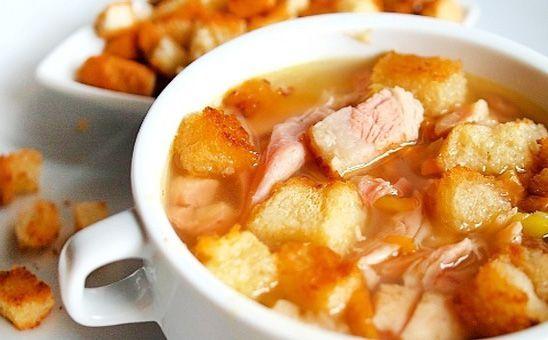 Гороховый суп с курицей - рецепт.