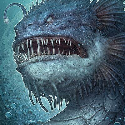 Deep Sea Dragon, Kerem Beyit on ArtStation at https://www.artstation.com/artwork/5q04E