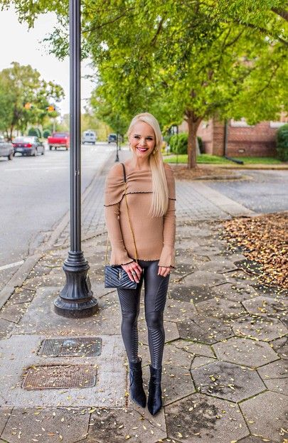 My favorite time of the year! 🍂🍁 Anyone else excited 13 nights of Halloween starts tonight?! I am, but my husband is definitely not 😭🎃 My #ots sweater is on sale & I'm obsessed with these moto leggings!! Get the details here: http://liketk.it/2t7Pc #liketkit #fallfashion #halloween #sweaterweather  @liketoknow.it