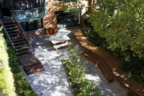 Remsen street courtyard, Brooklyn, New York, USA by terrain-nyc landscape architecture