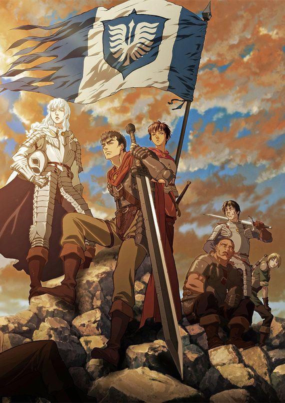 Berserk Anime Manga HQ Tiled Print Poster, Various sizes from A3