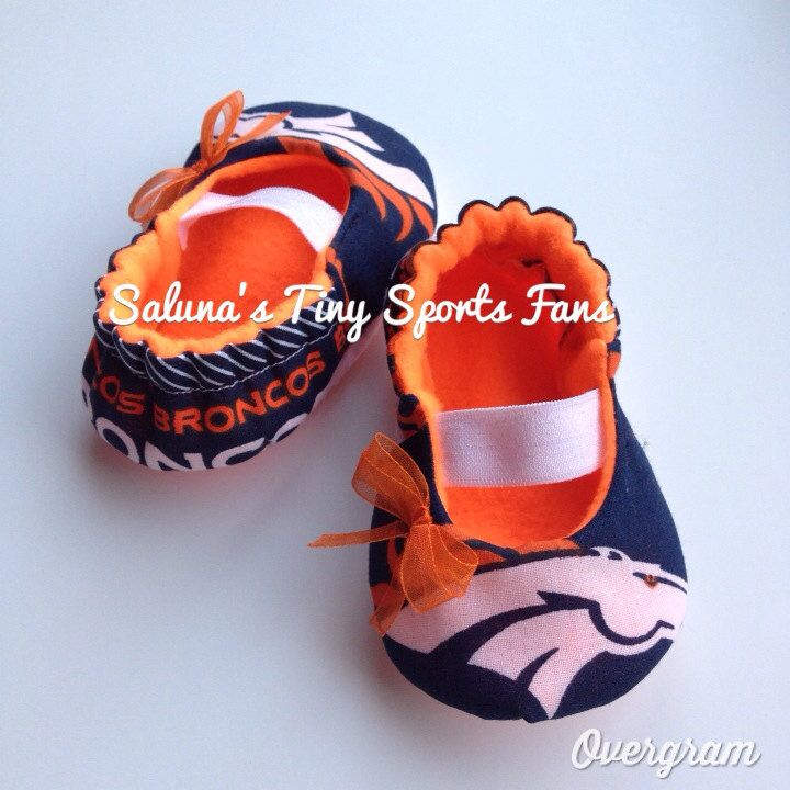 Denver+Broncos+MaryJane+Baby+Booties+by+saluna+on+Etsy,+$17.99