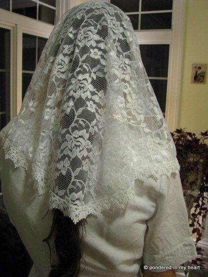 Sewing Tutorial: How to Make a Lace Chapel Veil