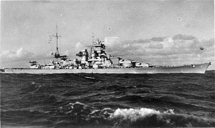 The Scharnhorst with the Atlantic bow.