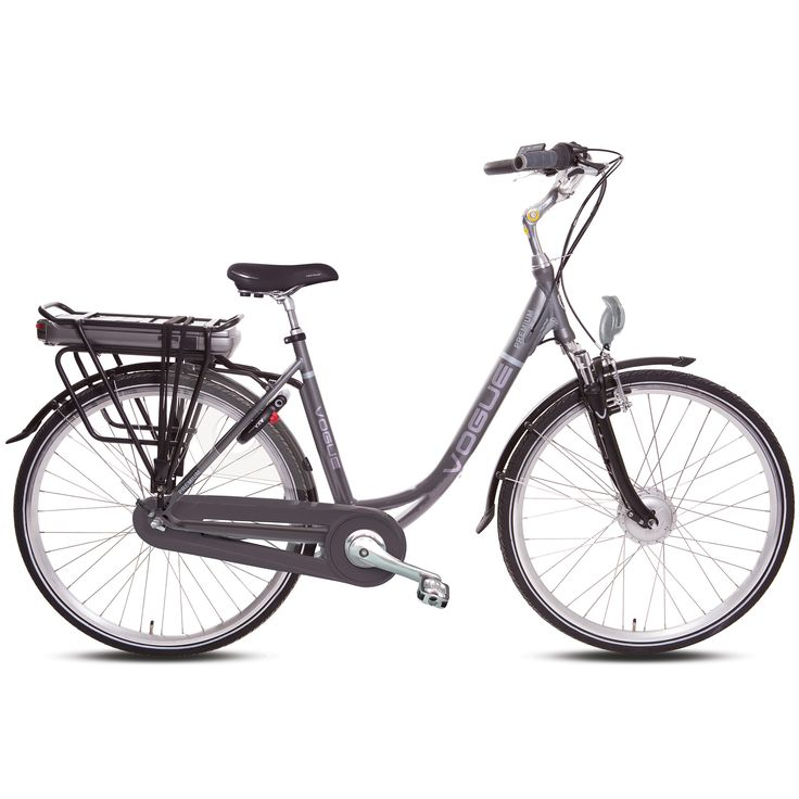 Vogue Elektrische fiets Premium dames grijs 51cm 378 Watt Grijs  Description: De Vogue Premium Dames is een luxe elektrische fiets die van alle gemakken is voorzien. De accu is krachtig en betrouwbaar want met zijn 36 volt en 105 ampère fiets je in de eco-stand 60 tot 80 kilometer. Halfords Bike Lease geeft je de mogelijkheid een elektrische fiets te leasen in plaats van te kopen! Hierdoor heb je de zekerheid dat je nooit voor vervelende verrassingen of dure reparaties komt te staan. De…