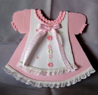 unknown date and artist; 'Ka De Creations' website; First Birthday Dress & Pinafore Card
